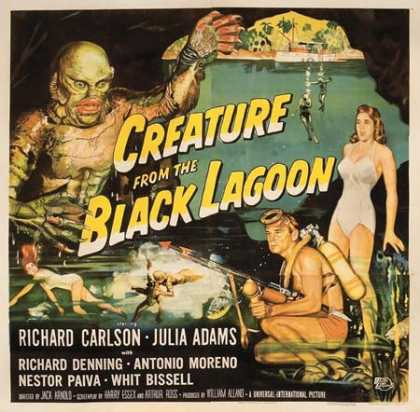 Horror Posters - Creature From the Black Lagoon