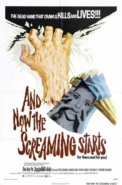 Horror Posters - And Now the Screaming Starts