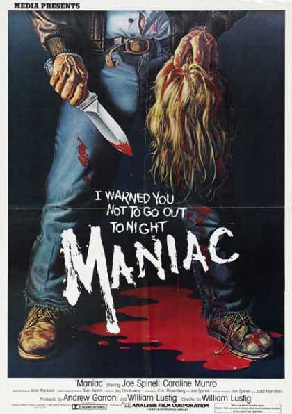 Horror Posters - Maniac