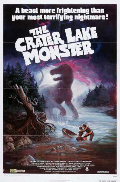 Horror Posters - The Crater Lake Monster