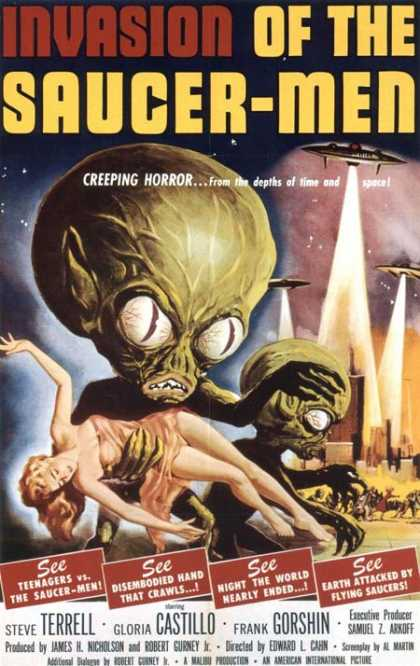 Horror Posters - Invasion of the Saucer-Men