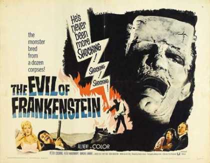 Horror Posters - The Evil of Frankenstein
