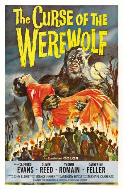 Horror Posters - The Curse of the Werewolf