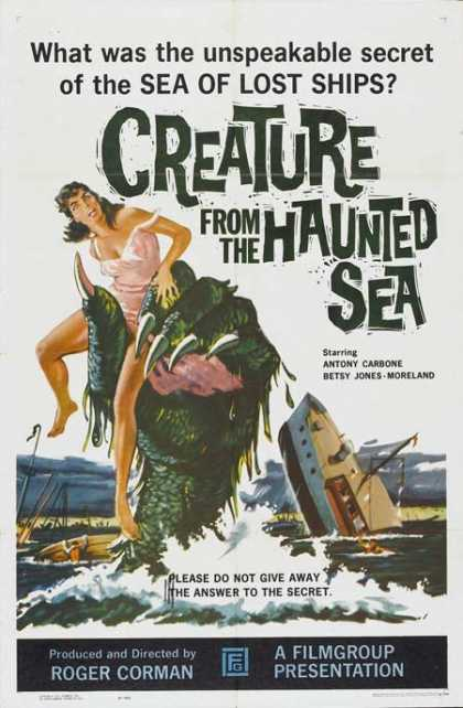 Horror Posters - Creature from the Haunted Sea