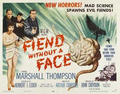 Horror Posters - Fiend Without a Face