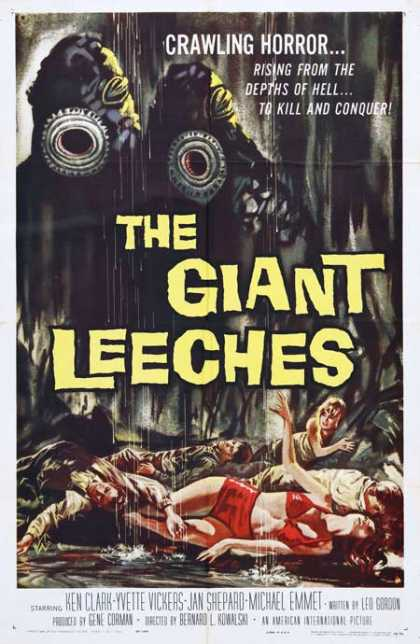 Horror Posters - The Giant Leeches