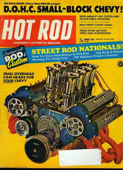 Hot Rod - August 1971
