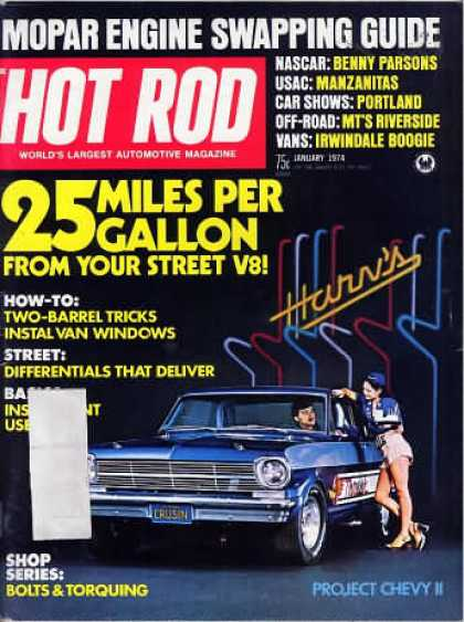 Hot Rod - January 1974