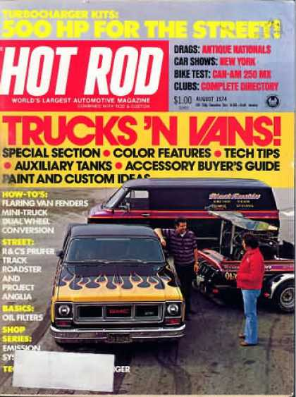 Hot Rod - August 1974