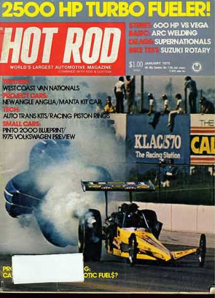 Hot Rod - January 1975