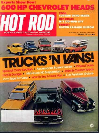 Hot Rod - August 1975