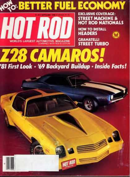 Hot Rod - September 1980