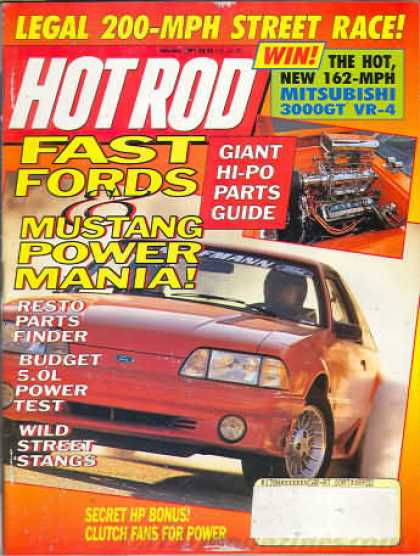Hot Rod - January 1991