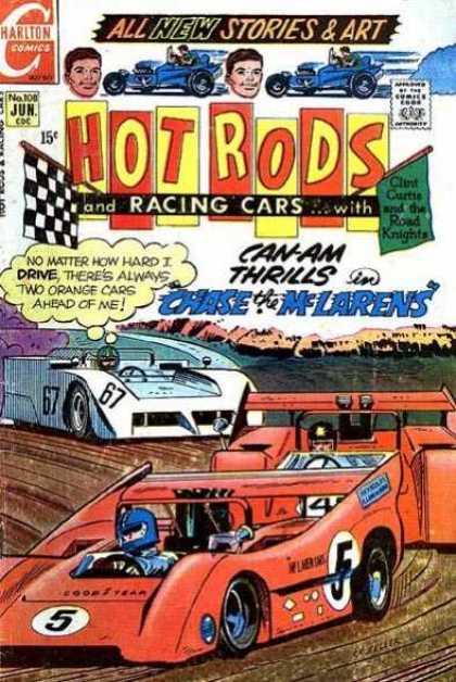 Hot Rods and Racing Cars 108 - Charlton - Checkered Flag - Clint Curtis And The Road Knights - Thought Bubble - Chase The Mclarens