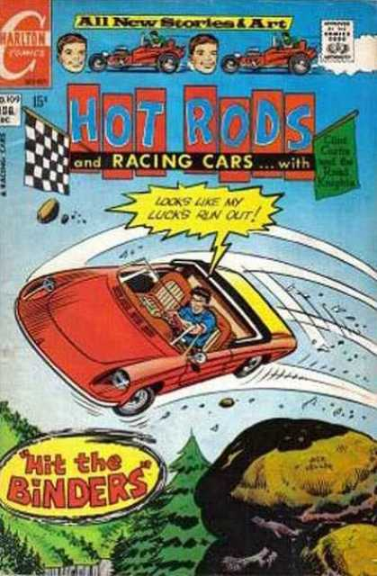 Hot Rods and Racing Cars 109 - Harlton - Looks Like My Lucks Run Out - Hit The Binders - Driving - Flag