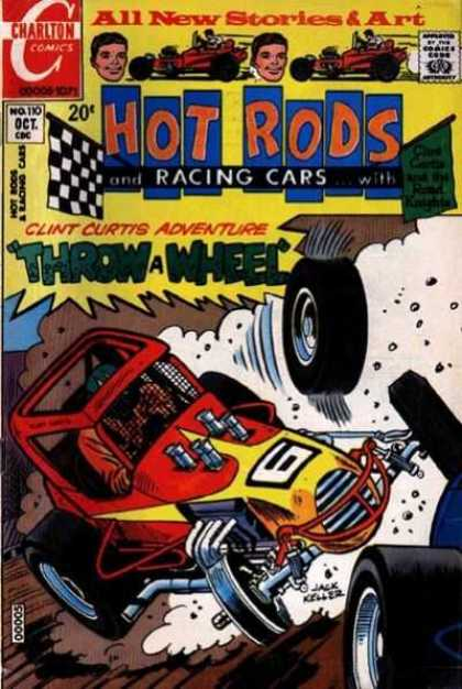 Hot Rods and Racing Cars 110 - Charlton Comics - 20 Cents - October - Comics Code Authority - Throw A Wheel