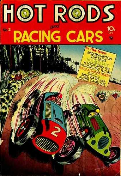Hot Rods and Racing Cars 2 - Collectable - Art - Action - Motion - 1950s
