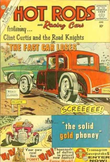 Hot Rods and Racing Cars 46 - Peeling Out - Clint Curtis And The Road Knights - Private Road - Street Race - The Solid Gold Phoney