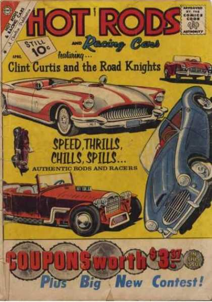 Hot Rods and Racing Cars 51 - Clint Curtis And The Road Knights - Speed Thrills Chills Spills - Hot Rods - Cars - Racing Cars