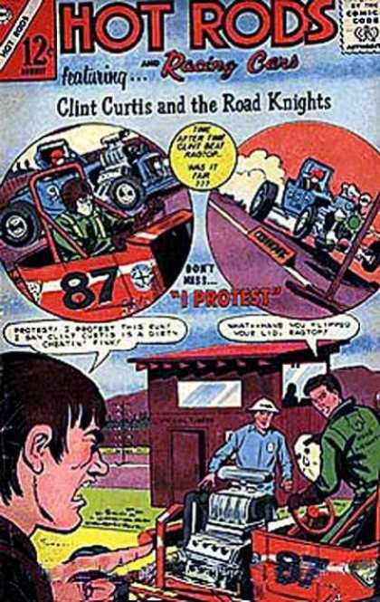 Hot Rods and Racing Cars 75 - 12 Cents - Drivers - I Protest - Clint Curtis And The Road Knights - Engine
