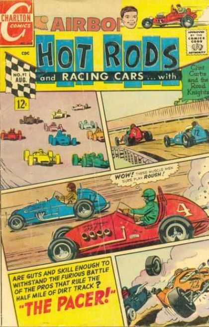 Hot Rods and Racing Cars 91 - Charlton Comics - Race - Cars - The Pacer - Battle