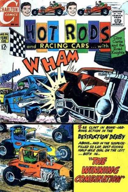 Hot Rods and Racing Cars 96 - Clint Curtis - Crash - Race Cars - Destruction Derby - Road Knights