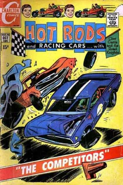 Hot Rods and Racing Cars 98 - Charlton Comics - Cars - Crashing - Comics Code - The Competitors