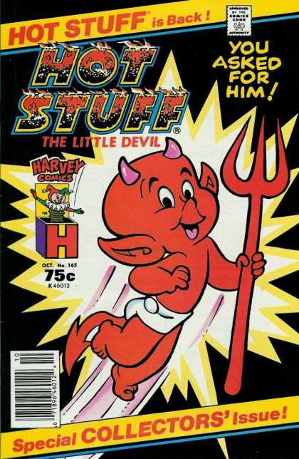 Hot Stuff 165 - The Little Devil - Red Devil - Pitchfork - Harvey Comics - You Asked For Him