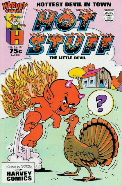 Hot Stuff 167 - Harvey Comics - Hottest Devil In Town - The Litlte Devil - Turkey - Question Mark