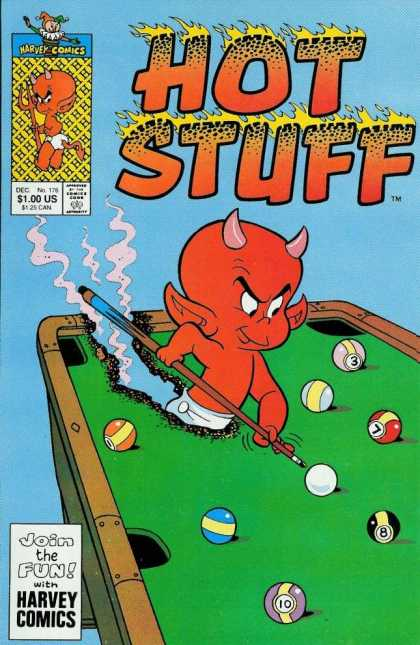 Hot Stuff 176 - Devil - Pool - Billiards - Cue Ball - Harvey Comic