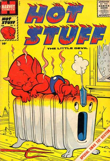 Hot Stuff 9 - Special X Mas Toy Section - The Little Devil - Resting On It - Yellow Color - Harvey