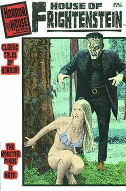 House of Frightenstein 1 - Tree - Forest - Blonde - Bikini - Grass