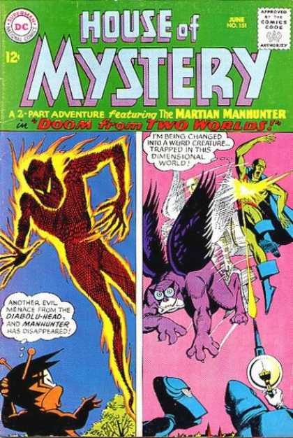 House of Mystery 151 - Fire - Man - Smoke - Wings - Kid