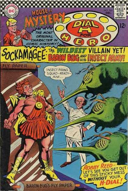 House of Mystery 163 - Sockamagee - Dial H For Hero - Baron Bug - Insect Army - Robby Reed - Carmine Infantino