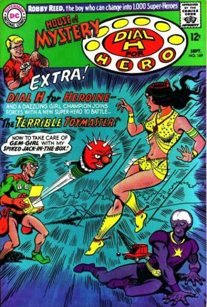 House of Mystery 169 - Robby Reed - Toymaster - Gem-girl - Jack-in-the-box - Dial H For Hero - Jim Mooney