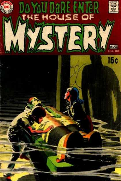 House of Mystery 181 - Boy - Girl - Shadow - Crypt - Fog - Neal Adams