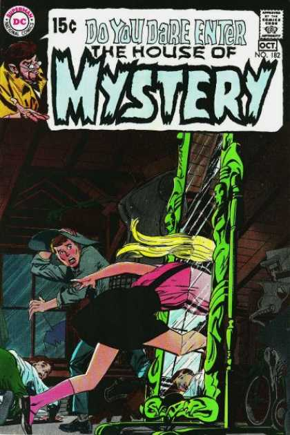 House of Mystery 182 - Mirror - Dc Comics - Woman - Glasses - Yellow Coat - Neal Adams