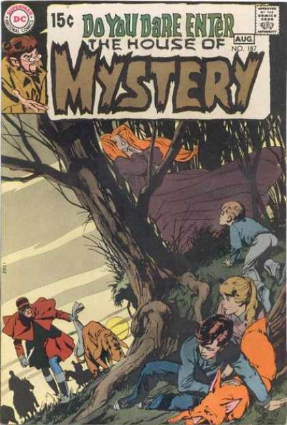 House of Mystery 187 - Tree - Do You Dare Enter - Climb - Hide - Dog - Neal Adams