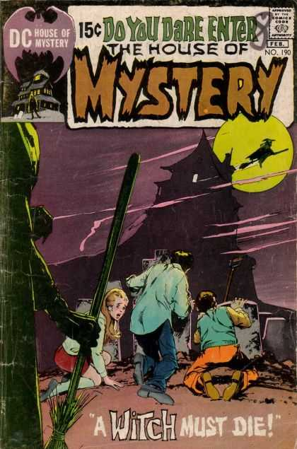 House of Mystery 190 - Witch - Full Moon - Haunted - Must Die - Broom - Neal Adams