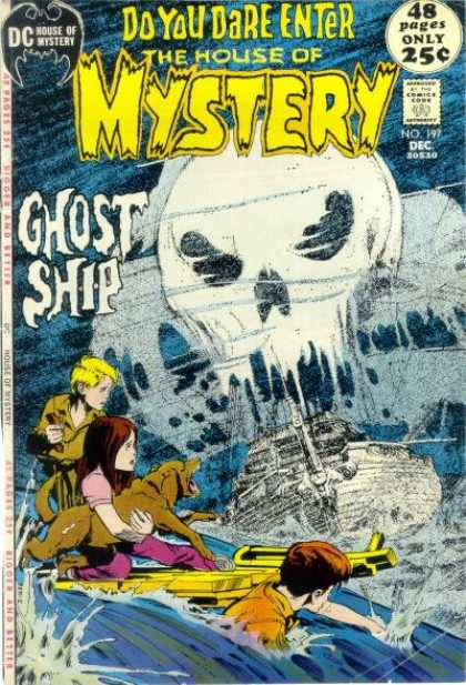 House of Mystery 197 - Dog - Ghost Ship - Children - Neal Adams