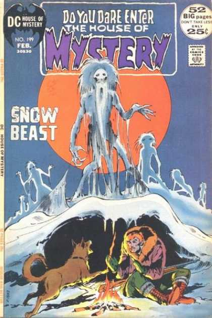 House of Mystery 199 - Snow Beast - 52 Big Pages - Approved By The Comics Code Authority - No199 Feb - Dc - Neal Adams