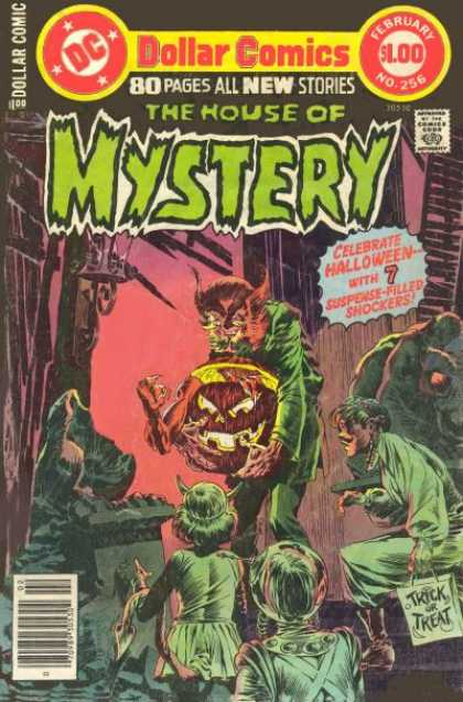 House of Mystery 256 - Halloween - Pumpkins - Children - Costumes - Scary - Bernie Wrightson