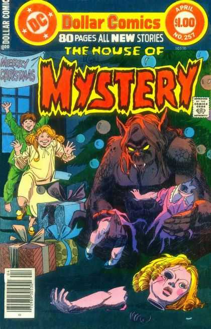 House of Mystery 257 - Christmas - Children - Monster - Dollar Comics - Doll Head - Dick Giordano