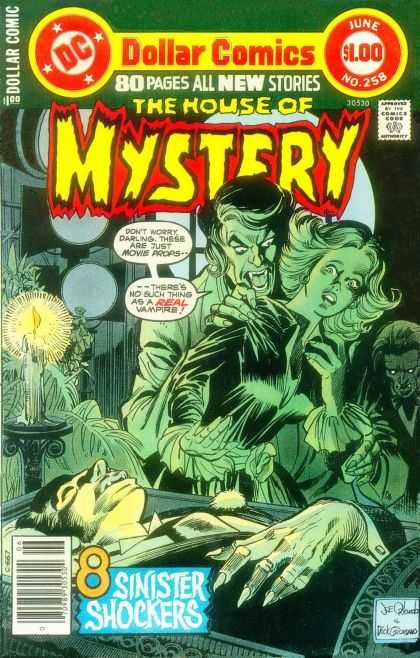 House of Mystery 258 - Man Eater - Woman In Danger - Candle Light - Murder - Devil - Dick Giordano