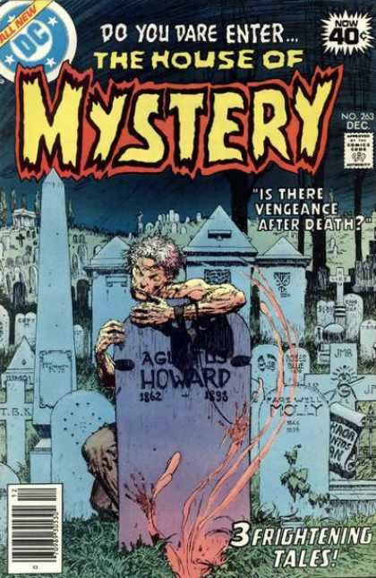 House of Mystery 263 - Cemetery - Tombstone - Dc Comics - Embrace - Horror - Michael Kaluta