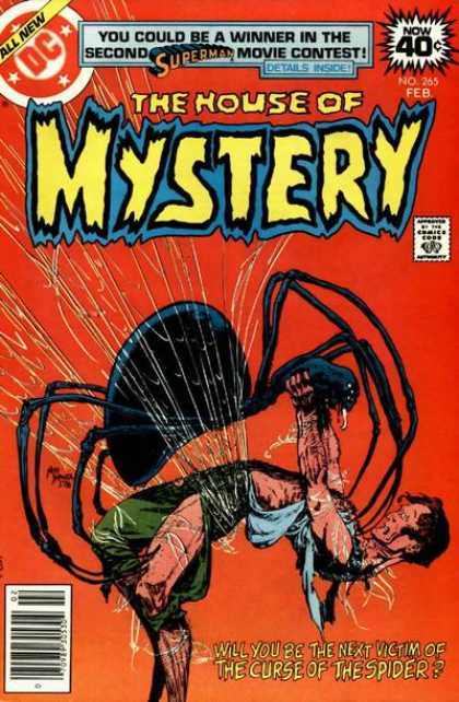House of Mystery 265 - Spider - Spider Web - Flight - Curse - Fear - Michael Kaluta