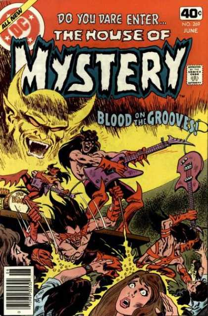 House of Mystery 269 - Guitar - Band - Blood On The Grooves - Rock - Devil - Jim Aparo