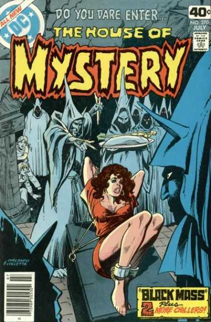 House of Mystery 270 - All New - Approved By The Comics Code - Woman - Black Mass - Knife