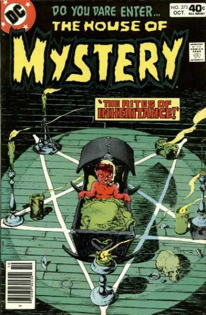 House of Mystery 273 - Baby - Crib - Candles - Evil - The Rites Of Inheritance - Michael Kaluta