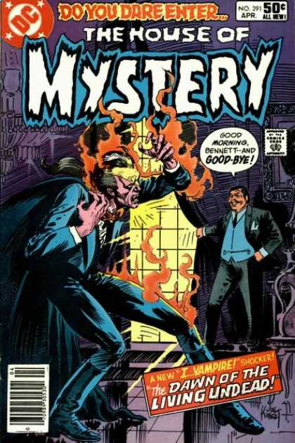 House of Mystery 291 - Vampire - Fire - Speech Bubble - Dc Comics - 50 Cents - Joe Kubert
